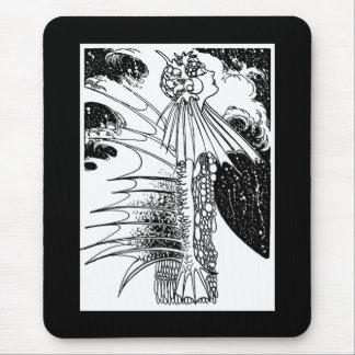 Art Nouveau Mer Woman Mouse Pad