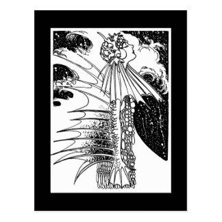 Art Nouveau Mer Woman Postcard