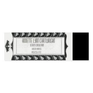 Art Nouveau Mirror Black and White Double-Sided Mini Business Cards (Pack Of 20)