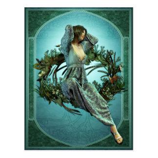 Art Nouveau Morning Postcard