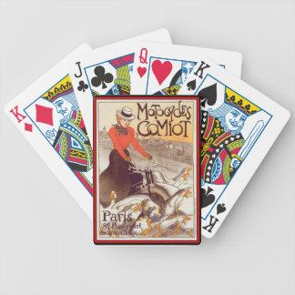 Art Nouveau Motorcycles Comiot Paris Playing Cards