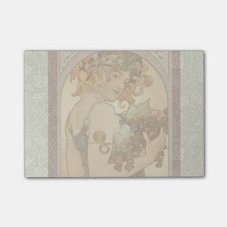 Art Nouveau Mucha Beautiful Woman Fruit Post-it® Notes