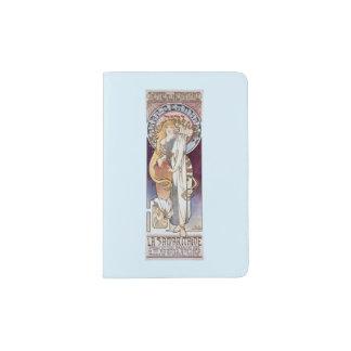 Art Nouveau Mucha Bernhardt Woman Passport Holder