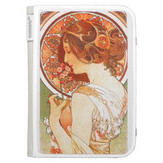 Art Nouveau Mucha Lady Kindle Case