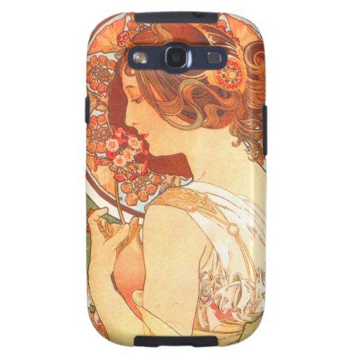 Art Nouveau Mucha Lady Samsung Galaxy Case Galaxy S3 Case