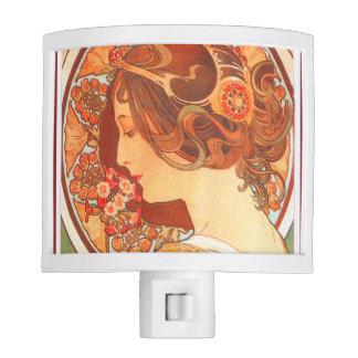 Art Nouveau Mucha Night Light
