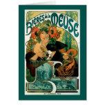 Art Nouveau: Mucha Poster Art - Bieres de la Meuse Cards