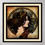 Art Nouveau Mucha Style print