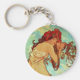 Art Nouveau - Mucha - Summer Keychain