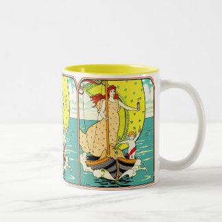 Art Nouveau Mug:  Perfume Ad by L.Rhead Two-Tone Coffee Mug