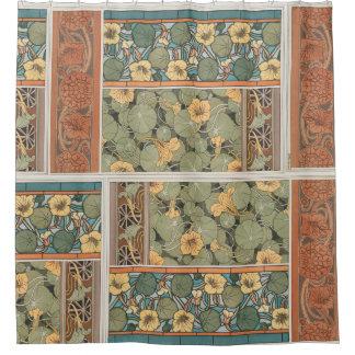 art nouveau shower curtains | zazzle