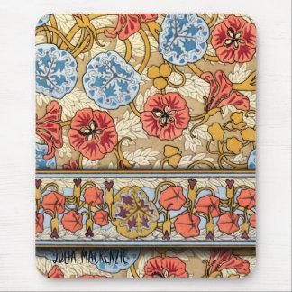 Art Nouveau 'Nasturtium' Mouse Pad