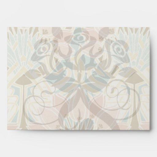 art nouveau nature floral pattern art envelopes