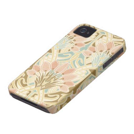 art nouveau nature floral pattern art iPhone 4 cover