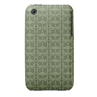 Art Nouveau Nature Themed Leaves iPhone 3 Case
