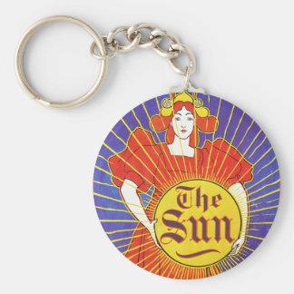 Art Nouveau New York Sun by Rhead Key Chains