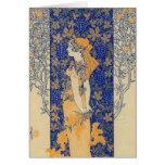 Art Nouveau Note Card