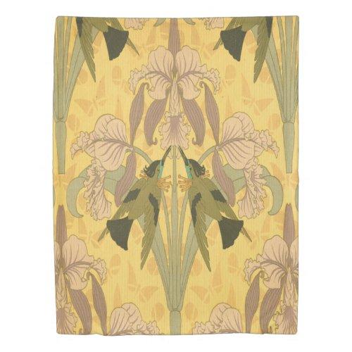 Art nouveau, original, vintage,floral,rustic duvet cover