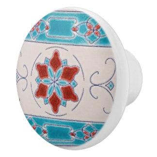 Art Nouveau Ornamental Majolica Cabinet Ceramic Knob