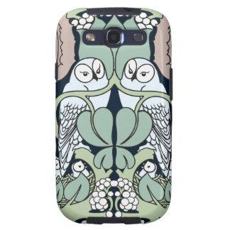 Art Nouveau Owls Nest Pattern Samsung Galaxy Case Galaxy SIII Cases