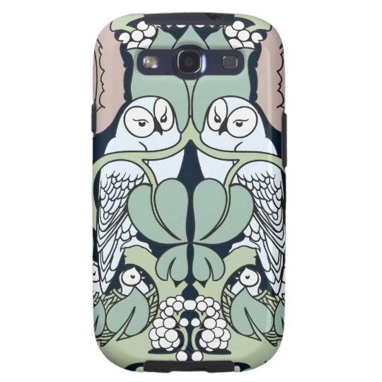 Art Nouveau Owls Nest Pattern Samsung Galaxy Case