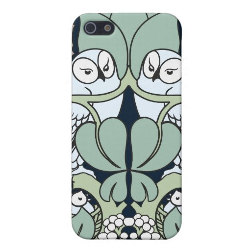 Art Nouveau Owls Nest Pern 4 Case For iPhone SE/5/5s