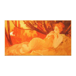 Art Nouveau painting inspired by Mucha Gallery Wrap Canvas