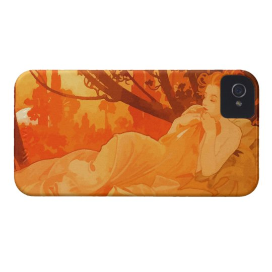 Art Nouveau painting inspired by Mucha iPhone 4 Case