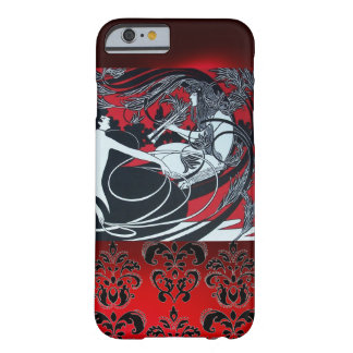 ART NOUVEAU PAN , RED BLACK WHITE DAMASK BARELY THERE iPhone 6 CASE