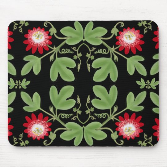 Art Nouveau Passiflora Mousepad