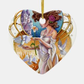 Art Nouveau Passionate Dreamer Labyrinth Ceramic Ornament