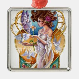 Art Nouveau Passionate Dreamer Labyrinth Ornaments