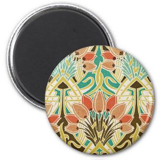 Art Nouveau pattern #11 2 Inch Round Magnet