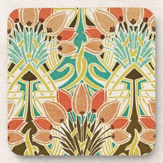 Art Nouveau pattern #11 Coaster