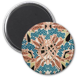 Art Nouveau pattern #12 2 Inch Round Magnet