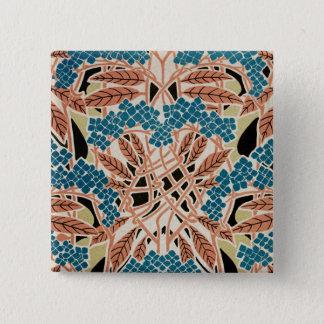 Art Nouveau pattern #12 Pinback Button