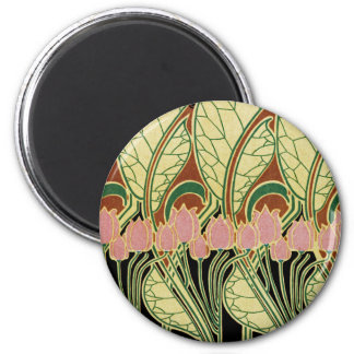 Art Nouveau pattern #1 2 Inch Round Magnet