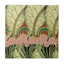 Art Nouveau pattern #1 Ceramic Tile