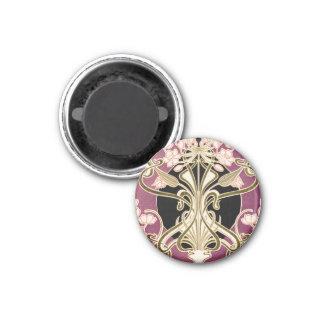 Art Nouveau pattern #2 1 Inch Round Magnet
