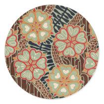 Art Nouveau Pattern #2 at Emporio Moffa Classic Round Sticker