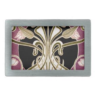 Art Nouveau pattern #2 Rectangular Belt Buckle