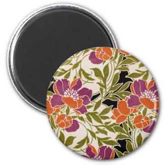 Art Nouveau pattern #3 2 Inch Round Magnet
