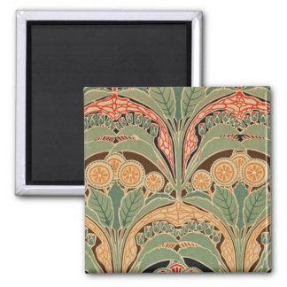 Art Nouveau Pattern #3 at Emporio Moffa 2 Inch Square Magnet