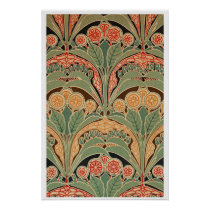 Art Nouveau Pattern #3 at Emporio Moffa Poster