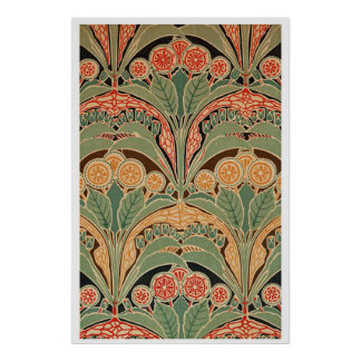 Art Nouveau Pattern #3 at Emporio Moffa Poster