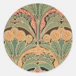 Art Nouveau Pattern #3 at Emporio Moffa Classic Round Sticker