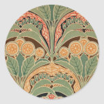 Art Nouveau Pattern #3 at Emporio Moffa Round Stickers