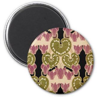 Art Nouveau pattern #4 2 Inch Round Magnet
