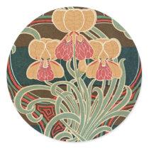 Art Nouveau Pattern #4 at Emporio Moffa Classic Round Sticker