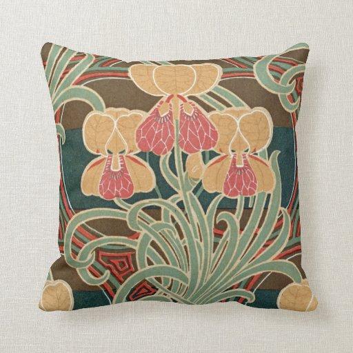 Art Nouveau Pattern #4 at Emporio Moffa Pillows